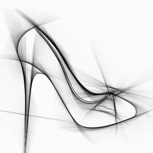 Nákres boty na podpatku